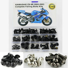 For 2002-2003 Kawasaki ZX9R Steel Complete Fairing Bolt Kit Bodywork Nuts Silver