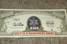 EMS EMT Paramedic Ambulance 911 Rescue Collectable Novelty Money Bill