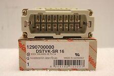 WEIDMULLER DSTVK-SR 16 Connector Insert **NEW IN BOX** 1290700000