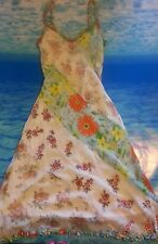 Sue Wong Silk Embroidered floral sun dress size 2