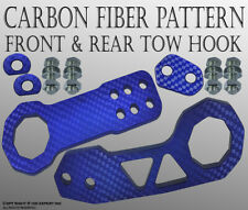 JDM Front Rear Anodized Billet CNC Aluminum Racing Towing Hook Tow Kit Blue G217