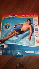 SwimWays Spring Float Recliner - Swim Lounger for Pool - Blue