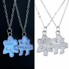 New Glow in the Dark BEST FRIENDS Puzzle 2 Necklace Pendant