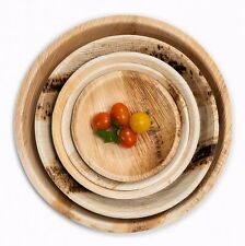 More details for disposable round palm leaf plates - catering eco bamboo natural dinner party bbq