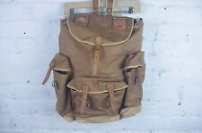 Vintage Rare Swiss Made Military backpack rucksack army canvas leather camp bag