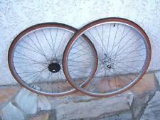 CYCLOTOURISME 700C PAIRE ROUES MOYEUX NORMANDY FW 14*28 JANTES RIGIDA -  60/70