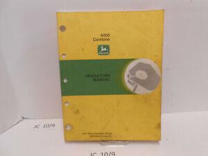 Used Operators Manual Fits John Deere Combine 4400 OM-H84018