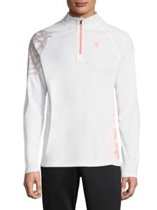 Spyder Performance Men's White Quarter Zip Dry Pullover Shirt