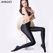 Women Sexy Black Shiny Elastic Tights Plus Size Nylon Stretchy Warm Pantyhose