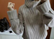 Ladies Winter PURE cashmere Roll neck pullover cosy Sweaters Jumpers Customised