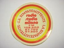 VECCHIO ADESIVO RADIO / Old Sticker _ RADIO STUDIO MILANO (cm 8)