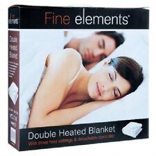 Fine elements ® double taille 120x107cm couverture chauffante électrique avec 3 réglages de chaleur