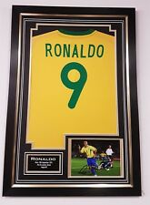 ** NEW Ronaldo of Brazil Signed Photo Picture and Shirt Autograph Display *