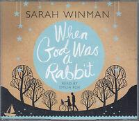 Sarah Winman When God Was A Rabbit 3CD Audio Book Abridged Emilia Fox FASTPOST