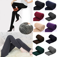 Women Winter Thick Warm Fleece Lined Thermal Stretch Slim Skinny Leggings Pants