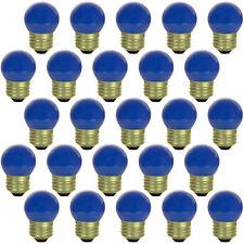 BOX of 25 } Ceramic 7.5 Watt Blue S11 LIGHT BULB E26 Base Sign, Party, & Holiday