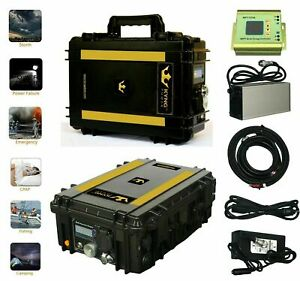 ⚡Kyng Power Solar 2000Wh Generator Kit Peak Portable Back-Up power Station NEW