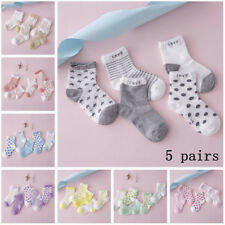 5 Pairs Baby Boy Girl Kids Cartoon Cotton Socks NewBorn Infant Toddler Soft Sock