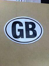 GB Great Britain  Country Code Oval Sticker Black Car Caravan Bumper Truck Decal