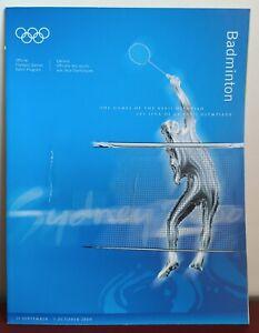 NEW Sydney 2000 Olympics Games 'Badminton' Sport Program Publication book