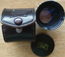 TAYLOR OPTICAL AUX. TELEPHOTO LENS with original FRONT CAP AND CASE