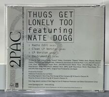 2Pac Thugs Get Lonely Too 4 Track Promo CD Instrumental Tupac Shakur Nate Dogg