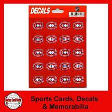 """(HCW) Montreal Canadiens Vinyl Sticker Sheet 5""""x7"""" Decals - 1"""" Round x20"""