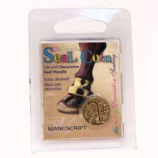 Manuscript Decorative Wax Sealing 18mm Coin Seal - Initial F