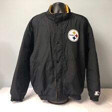 De Colección De Pittsburgh Steelers Shell Bombardero Chaqueta de Abrigo XL  de arranque Forro Polar Negro 2376a18d8c3