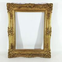 74 x 59 cm Gemälde Bilderrahmen Rahmen Antique Spiegel Antik Foto Goldrahmen