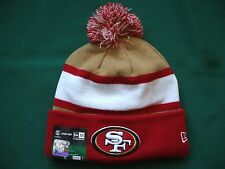 San Fransisco 49ers New Era knit pom hat beanie NEW w/tags RARE NFL OnField