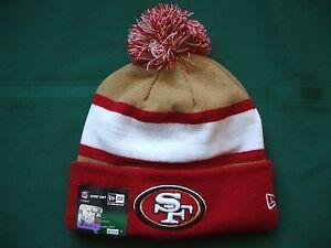 San Fransisco 49ers New Era knit pom hat beanie NEW w/tags RARE NFL OnField