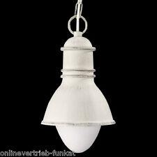 Aussenleuchte Landhaus Antik Weiß Bauhaus Alu Außenlampe Pendellampe Loft Shabby