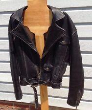 Vintage Harley Davidson V2 Evolution Revolution Leather Jacket w/Belt Size Small