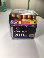 "Imation 25 Pack 3.5"" Floppy Disk Pack New IBM Formatted 2HD 1.44mb Multi Colors"