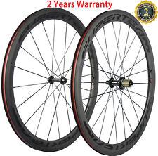 Superteam 50mm Carbon Fiber Road Bike Clincher Wheels 23mm Bicycle Wheelset