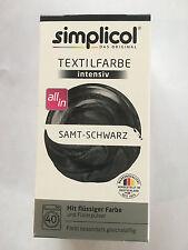 """Simplicol Textilfarbe intensiv all in 1 -Flüssige Rezeptur """"Samt schwarz"""" Neu!"""