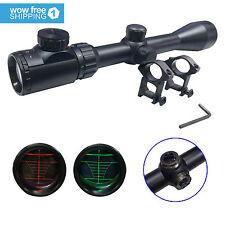 Optics Red & Green Mil-Dot Illuminated Hunting Air Sniper Rifle Scope 3-9X40 E