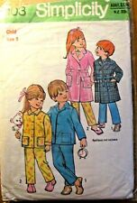 Simplicity Sewing Pattern no. 5103 Child size 5 Sleepwear Vintage