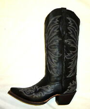 Handmade Cowtown Size 7 M Med Mens Fashion 431 Boots Cowboy Western Snip BLACK