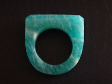 Bague en jade vert bleu chine jade chinese stone ring blue green