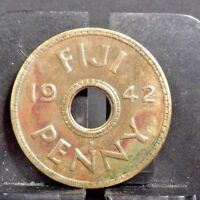 CIRCULATED 1942 1 PENNY FIJI COIN (52318)2