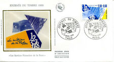FRANCE FDC - 1990 2 JOURNEE DU TIMBRE - 2639 - PARIS sur soie