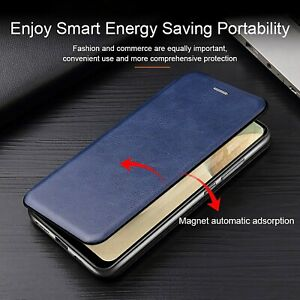 Shockproof Wallet Magnetic Close Book Card Holders Slot Case Cover Mobile Phone