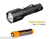 Fenix  TK25IR Weiß +3W Infrarot LED Taschenlampe  neustes Modell  inkl.Akku