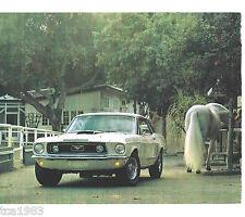1968 FORD MUSTANG GT SUPER COBRAJET 428 RAM AIR Article <-brochure>