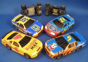 2001-03 LIFE-LIKE CHEVY NASCAR 4-Pack FAST T Chassis 1400mph Slot Cars Unused A+
