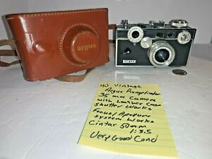 #40 Argus Rangefinder 35mm Camera with Leather Case