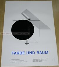GERMAN EXHIBITION POSTER 1980 - EL LISSITZKY - COLOUR AND SPACE * ART PRINT