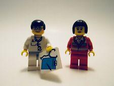 LEGO MINIFIGURES LOT 2 DOCTOR NURSE ACCESSORIES EMERGENCY UNIT RETIRED RARE